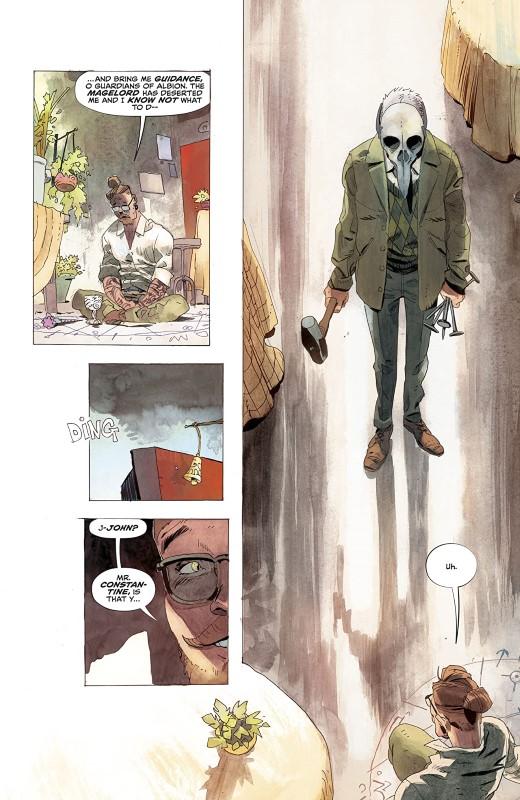 John Constantine: Hellblazer #5 art by Matías Bergara, Jordie Bellaire, and letterer Aditya Bidikar
