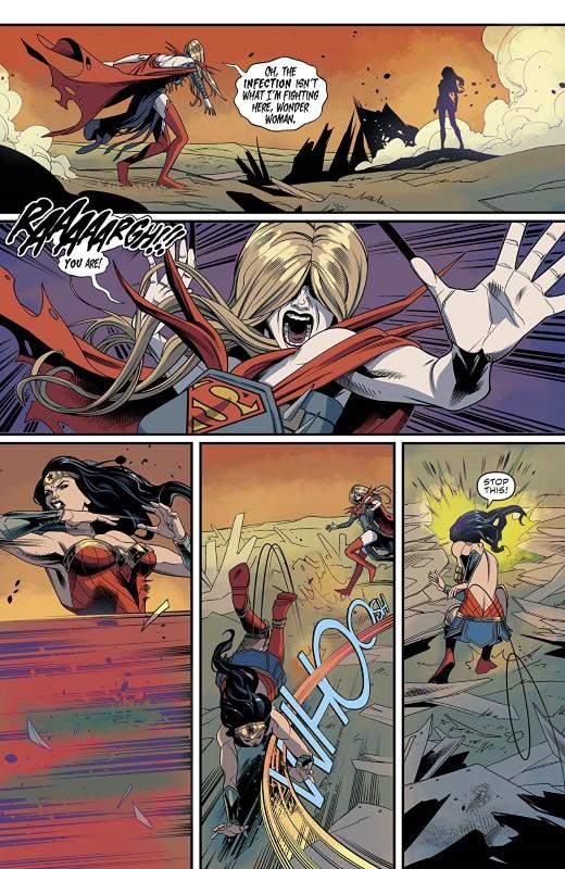 Supergirl #40 art by Rachael Stott, Cris Peter, and letterer Tom Napolitano