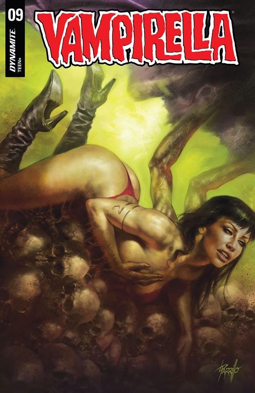 Vampirella #9 cover by Lucio Parillo