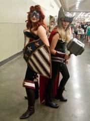 Female Captain America and Thor