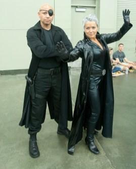 Nick Fury and Storm