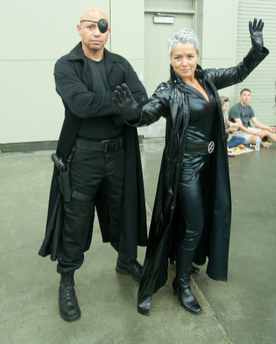 Nick Fury and Storm