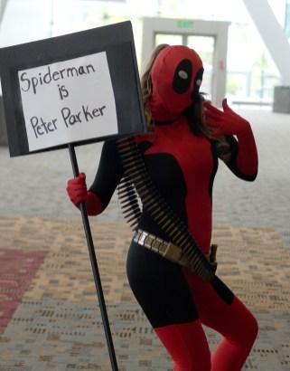 "Deadpool informs us that ""Spiderman is Peter Parker"""
