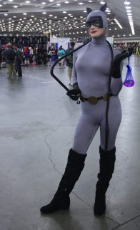 Catwoman back from a caper