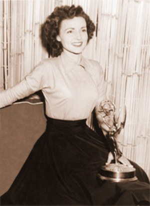 Betty White in the 50s with first emmy