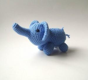 little blue elephant from sabahnur on etsy