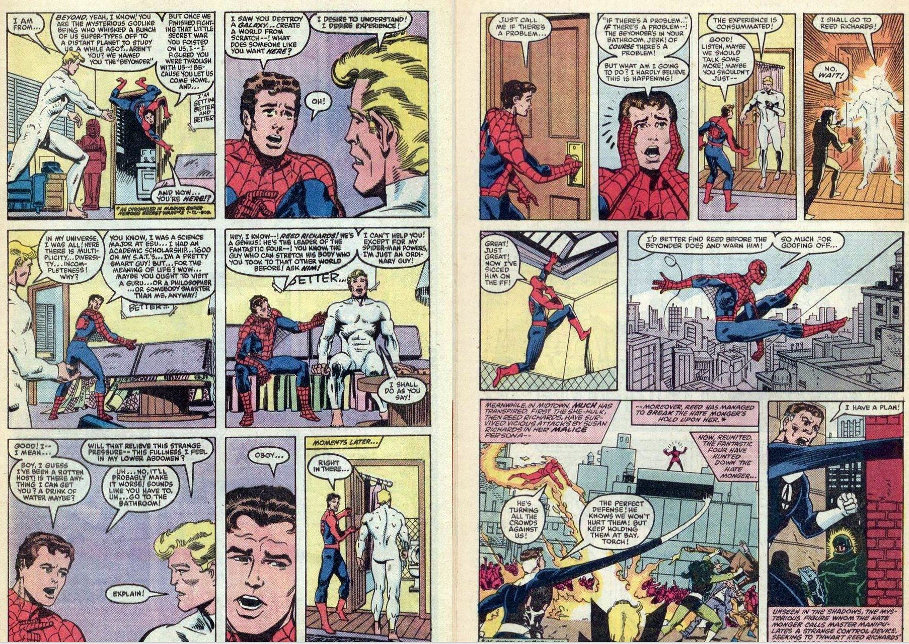 Getaway Special The Day Spider Man Taught The Beyonder How To Use
