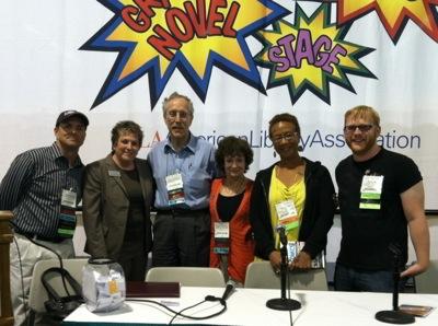 Eisner Prize event at ALA 2012  L-R John Shableski, Jennifer Ruth(Brodart Co.) Carl Gropper, Nancy Gropper, Viola Dyas, Jack Baur, Not pictured Dylan Flesch.jpeg