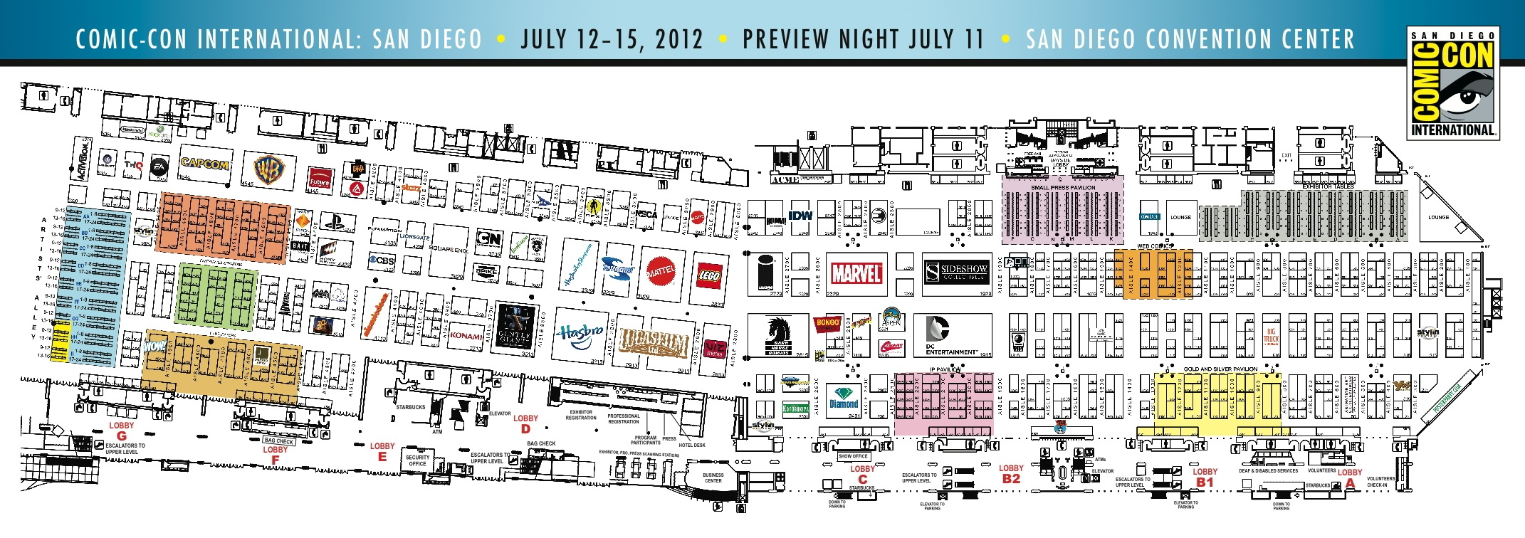 SDCC 12: Plan your routes! Exhibitors list and map released ... Sdcc Map on halloween map, otakon map, pax map, thundercats map, transformers map, convention map, sandman map, the dark knight map, tron map, thanksgiving map, tmnt map, black widow map, avengers map, spiderman map,