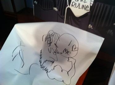 keith knight draws dean haspiel blindfolded