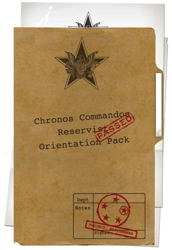Chronos Commandos Orientation Pack - Cover