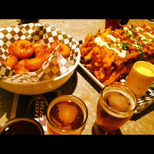 Bacon donuts and local beers at the Loose Moose
