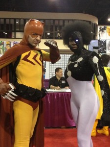 MegaCon cosplay: Catman and Captain Universe