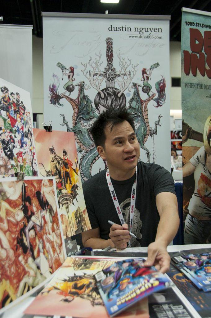 SDCC2013, San Diego Comic Con, Dustin Nguyen, artist alley, DC, Lil' Gotham