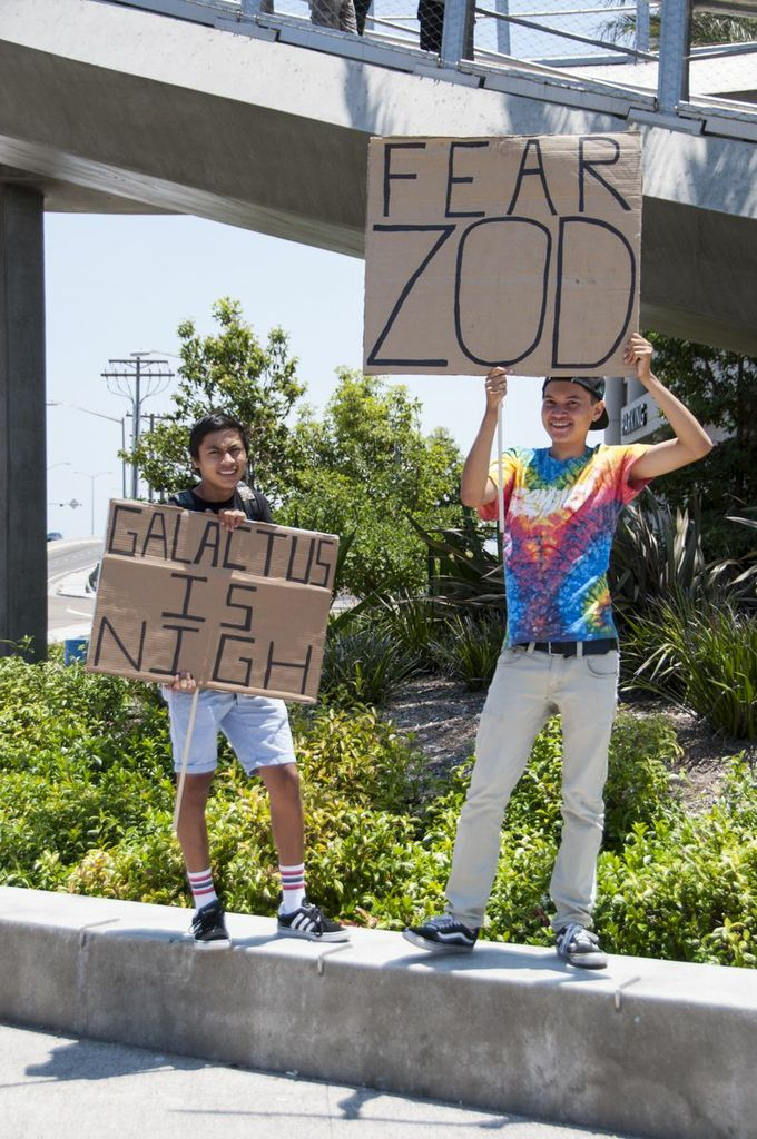 SDCC, SDCC2013, San Diego Comic Con, Zod, Galactus, protestors