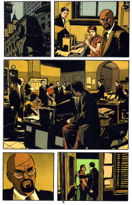 """A page from Greg Rucka and Michael Lark's """"Gotham Central""""."""