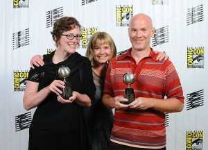 Colleen Coover and Paul Tobin, with Allison Baker of Monkeybrain