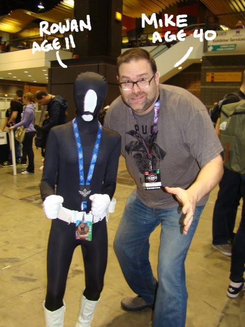 11-year-old Rowan posing with Mike Norton. (Photo Credit: Mike Norton)