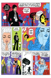 """A page from Jim Steranko's """"My Heart Broke in Hollywood,"""" from Our Love Story, 1970"""