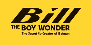 Bill the Boy Wonder - title treatment - black on yellow
