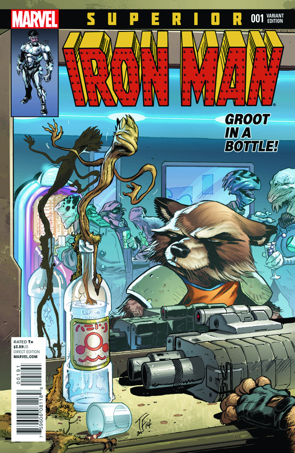 Superior Iron Man #1 by Tom Fowler. (I love this.)