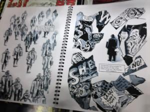Joe D'esposito's draft of his graphic novel.