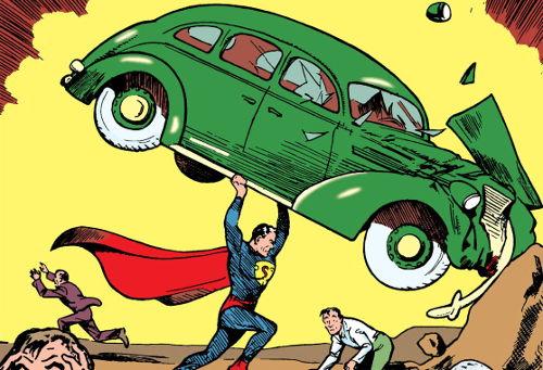 Detail from Action Comics 1