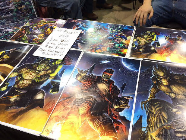 Here's some fan art that was for sale at the HeroicFineArt.com  #816 booth.