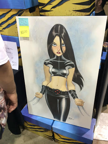 Bruce Timm art printed on a canvas with a $200 price tag.