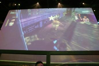 embarrassing myself on the Arkham Knight big screen