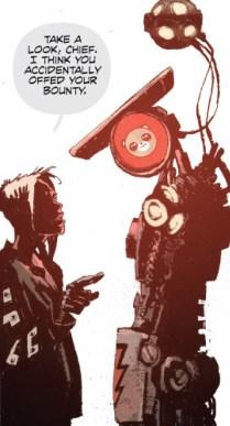 Corrine and Robot bounty hunter