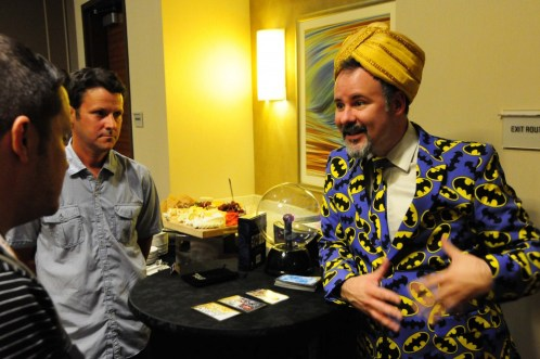 Kevin Kiniry, playing fortune teller with the DC Tarot Cards.