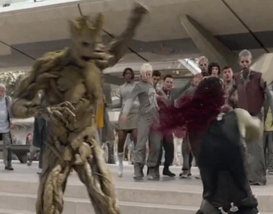 GotG Groot Gamora