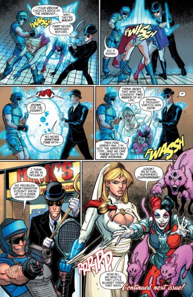 From Harley Quinn #12, which led to the Harley Quinn and Power Girl mini-series