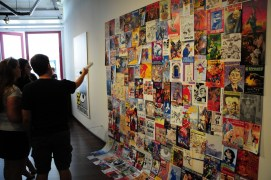Covers of Souvenir Guides arranged into an artpiece