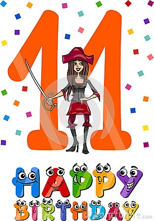 eleventh-birthday-cartoon-design-illustration-anniversary-girls-40596234.jpg