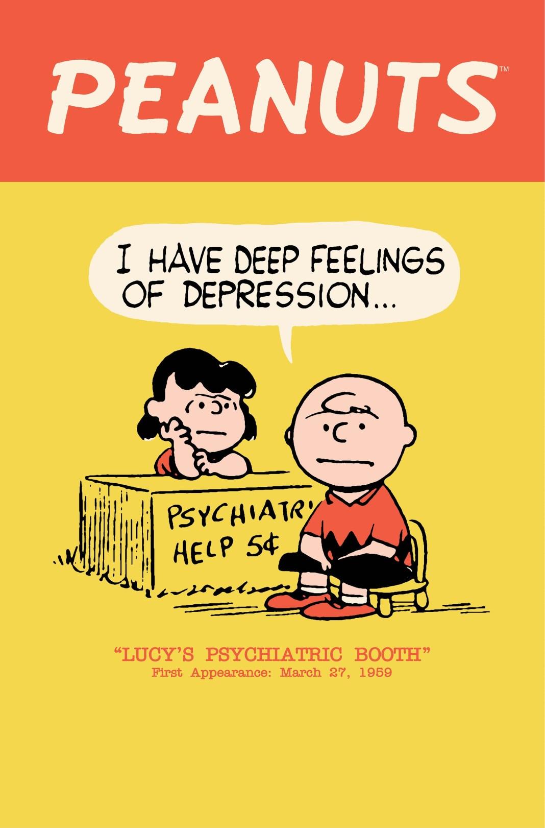 1st Lucy Psychiatric Help Desk in Peanuts