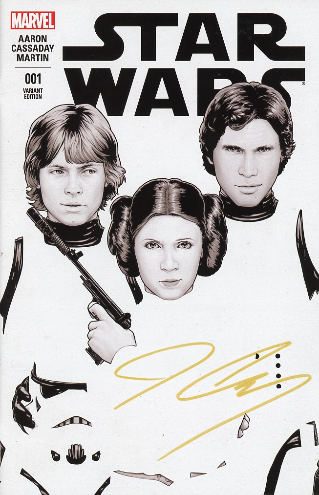 Cassaday Signed Gold Star Wars #1 Comicxposure Exclusive Black & White John Tyler Christopher Varient Cover .jpg