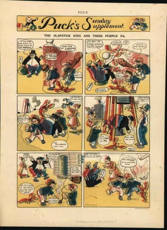 the accompanying parody Puck strip referenced