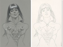 SAVED WHISKERS RESCUE - VAMPIRELLA #2 VARIANT COVER Jenny Frison
