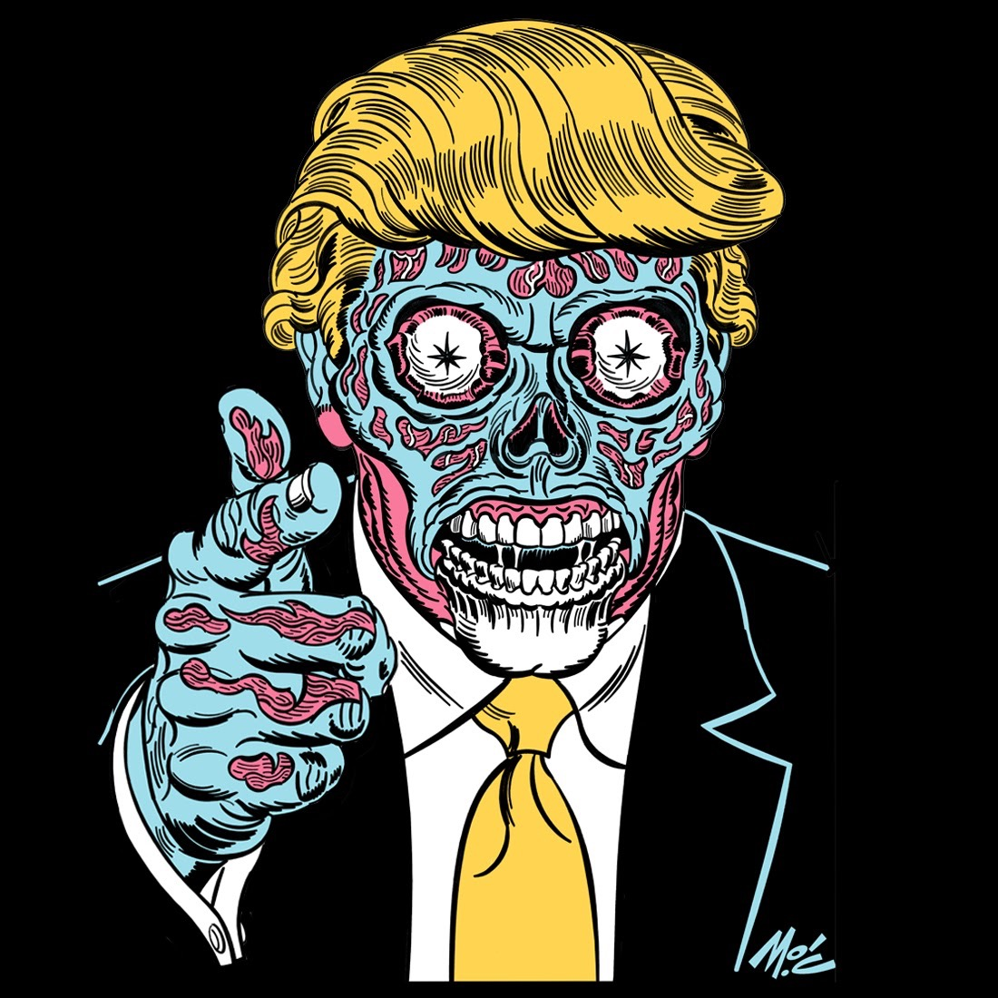 3e4cc2ac1 Mitch O'Connell's Donald Trump/They Live t-shirt may be more popular ...