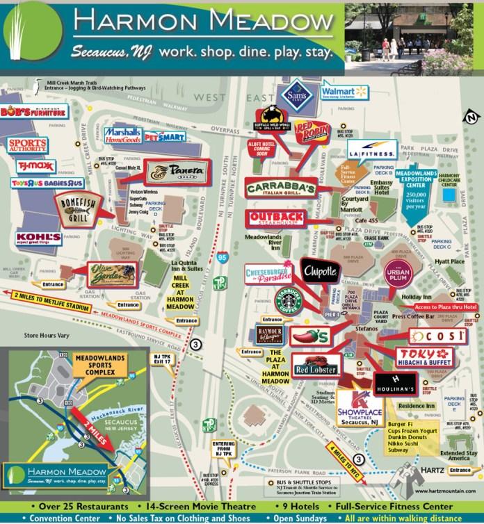 Harmon Meadow map