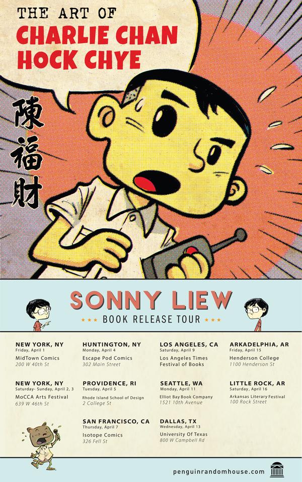 Sonny Liew Schedule