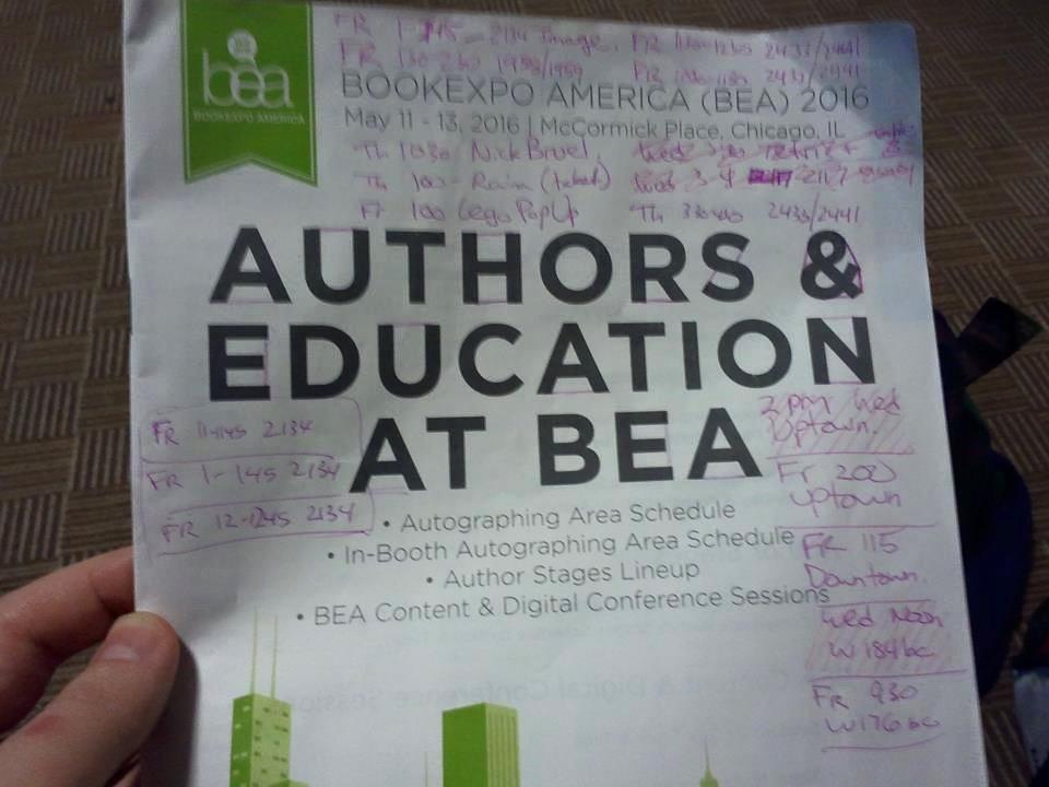 BEA 2016 schedule