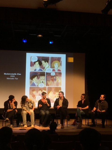 Thursday night at the Alliance Francaise a fantastic panel with Balak, Bastien Vivres, Manuele Fior, Francesco del Lobo, Barbara Yellin, moderated by Mark Askwith.