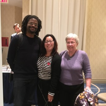 David Brothers and my boon companions Deb Aoiki and Brigid Alverson. TCAF is so full of friendship, that's what makes it the best.