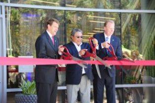 Left to right: Marshall Merrifield, Tuni Kyi, and Mayor Kevin Faulconer