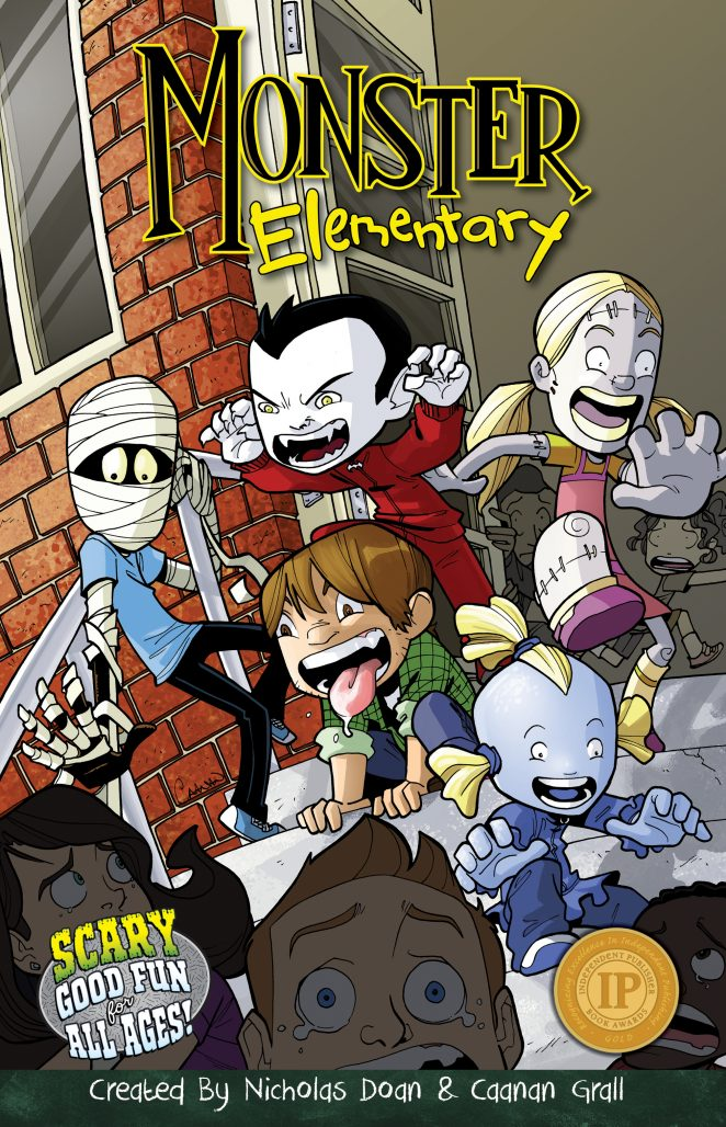 Monster Elementary Volume 1 Front Cover - Art by Caanan Grall