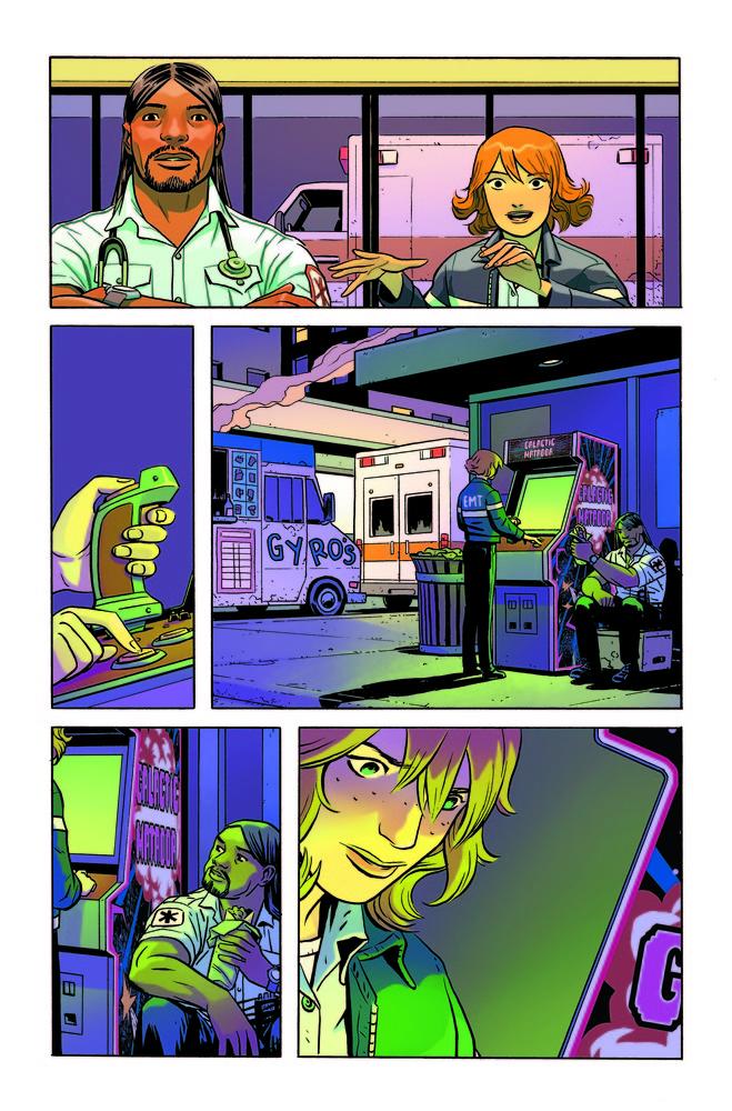 Doom Patrol #1 page, art by Derington