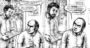 Jeff Newelt (JahFurry) & Harvey Pekar. Art by Joseph Remnant.